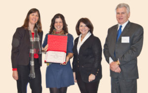 receiving excellence award